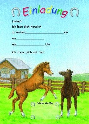 Toll 12 Einladungen Pferde Party