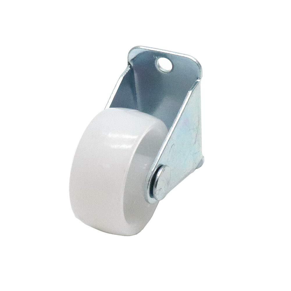 BTMB 1.25 Inch Plastic Non-Swivel Casters Wheels Top Plate Single Rigid Fixed Wheels,Pack of 20