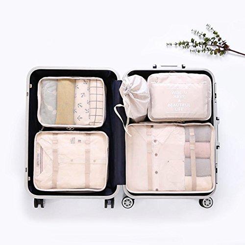 langugu compresión viaje equipaje organizadores 6 Set, malla ...