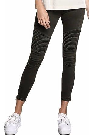 Cocoa Olive Moto Skinny Stretch Jeans Zipper Pants Women S M L
