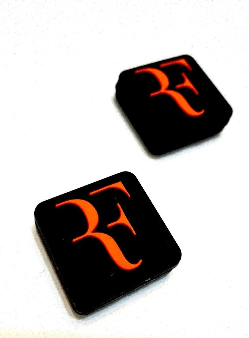 """RF"" Logo Silicone Vibration Dampeners Collection for Tennis Squash Racket Pack of 2"