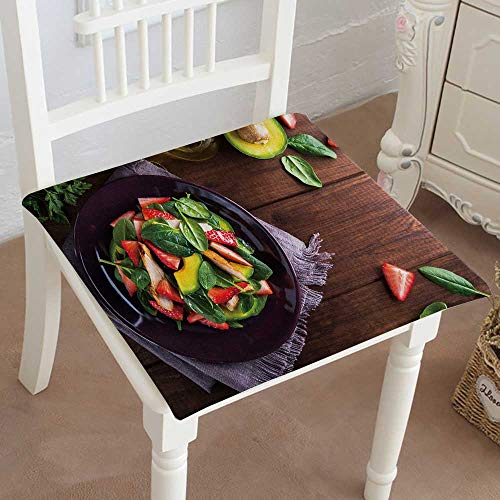 Mikihome Outdoor Chair Cushion Salad Plate with Avocado Strawberry Chicken and Spinach Comfortable, Indoor, Dining Living Room, Kitchen, Office, Den, Washable ()