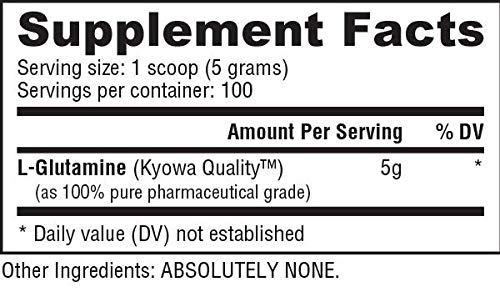 NutraBio 100% Pure L-Glutamine Powder - 500 Grams by NutraBio (Image #1)