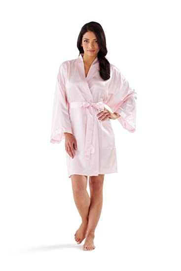 17c86f38f2 Satin Kimono Bathrobe by Boca Terry at Amazon Women s Clothing store