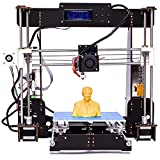 3D Printer - 3D Printer, Perfectink A8-W5 Pro Aviation Wood High Precision LCD Screen Desktop DIY 3D Printers Printing Machine Kit with Free 1.75mm ABS/PLA Printer Filament(Build Size 220×220×240mm)
