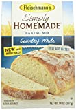 instant bread mix - Fleischmann's Country White Simply Homemade No Knead Bread Mix, 14 Ounce