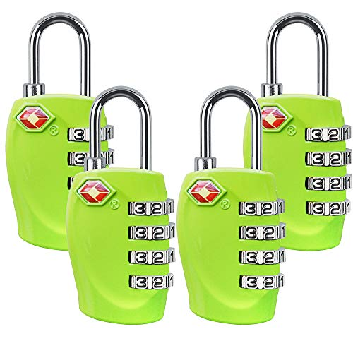 Approved Luggage Combination Suitcases Green 4pack product image