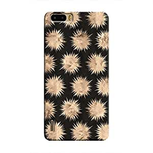 Cover It Up - Sand Star Black Honor 6 Plus Hard Case