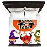 King Duvet Cover Halloween Trick or Treat Kids