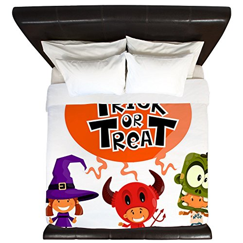 King Duvet Cover Halloween Trick or Treat Kids -