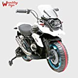 Wembley Original License Quality Battery Operated Hand Control Pedal Break Ride-on Bike 30W Motor / 12V Battery with MP3 SD and Wheel Lights (White Colour)