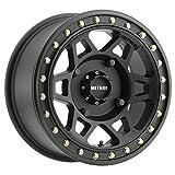 "Method Race Wheels 405 UTV Beadlock Matte Black 15x7"" 4x136"", 13mm offset 4.3"" Backspace, MR40557047543B"