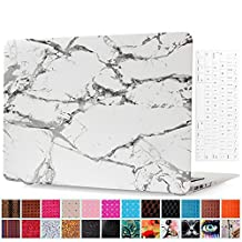 MacBook Pro 13'' With Retina Display Case and Keyboard Cover Protector, AICOO YCL 2-in-1 Beautiful Hard Case Cover Shell For Macbook Pro Retina 13.3 inch (A1502 / A1425) - Marble White