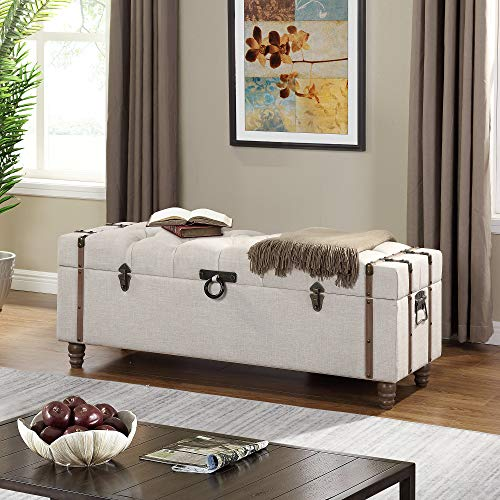 FirsTime & Co. 70093 Devon Tufted Storage Ottoman, 47.5