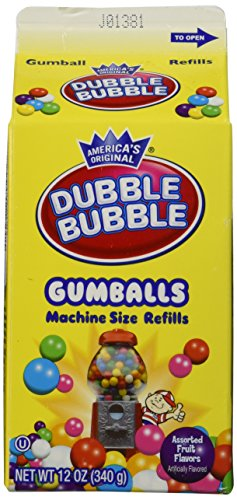 Dubble Bubble Gumballs (Dubble Bubble Gumballs Machine Size Refills 12 oz. Carton)