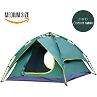 2-3 Person Instant Camping Tent Dual Layer 210 D Fabric 3...