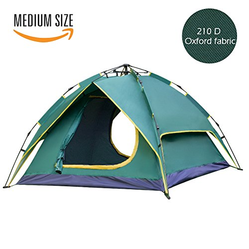 Waleaf 2-3 Person Waterproof Instant Camping Tent - Backpacking Pop up Automatic 3 Season Tent with Carry Bag For Hiking Travel Beach Outdoor Sports