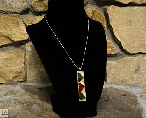 (Dichroic glass Christmas Pendant Necklace * Buy jewelry, give 10% of sale to the Child Fund International to improve the lives of children globally.)