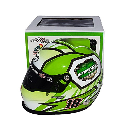 Busch Autograph (AUTOGRAPHED 2017 Kyle Busch #18 Interstate Batteries Racing (Joe Gibbs Team) Monster Energy Cup Series Signed Lionel Collectible NASCAR Replica Mini Helmet with COA)