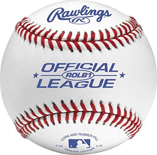 - Rawlings Raised Seam Baseballs, Official Junior League Competition Grade Baseballs, Cover, Box of 12, ROLB1 (Renewed)