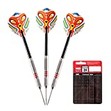 ONE80 darts have been designed using input from profesional and amateur players with the hope of making a dart that any player could use and become more consistent. That makes these professional darts perfect for any level of player  Warning: For adu...
