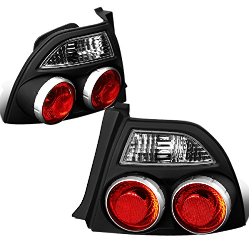 DNA Motoring CLOSE-TLZ-ACD94-BK Skyline Style Tail Light Black [For 94-97 Honda Accord]