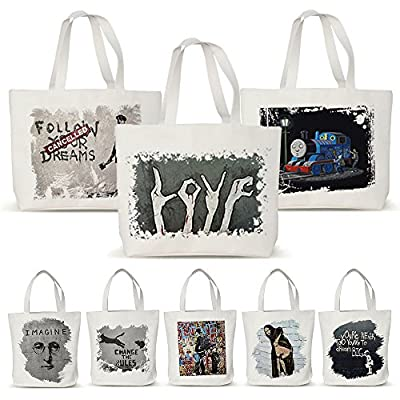 Maxry(TM) Canvas Eco Shopping Bags Friendly Reusable Grocery Shopper Tote Handbags Women Shoulder Bag Banksy graffiti D30