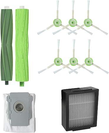 Opinión sobre Mumuj - Kit de herramientas de repuesto para aspiradora, bolsas de suciedad para robots, filtros de limpieza para el hogar, adecuado para iRobot Roomba i7 + / i7 plus E5 E6 E7(9 unidades)