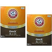 Oreck XL & CC Premium Odor Eliminating Vacuum Bags, 3 bags, 2 Pack (6 total bags)