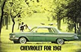 1961 CHEVROLET DEALERSHIP SALES BROCHURE For Impala, Bel Air, Biscayne, Corvair, Corvette, Nomad, Brookwood, Parkwood Station Wagon