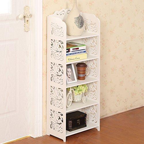 Dline - White Wood&Plastic Storage Shelf (5C)