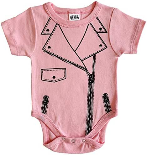 CHUBS Biker Baby Outfit, Cool Harley Infant Girl Clothes, Funny Motorcycle Onsie