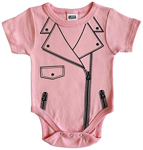 (CHUBS Motorcycle Baby Jacket, Biker Clothes for Babies, Gifts for New Dad (Pink,)
