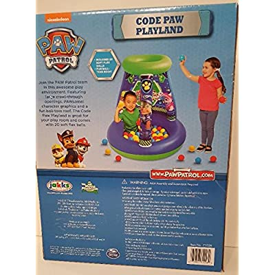Nickelodeon Paw Patrol Code Paw Playland 20 Soft Flex Balls: Toys & Games