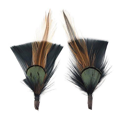 Zucker Feather (TM) - Pheasant-Turkey-Hackle Feather Hat Trims