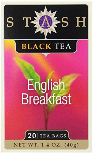 Stash Tea English Breakfast Black Tea, 20 Count Tea Bags in Foil (Pack of 6)