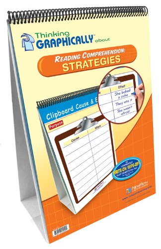 NewPath Learning Thinking Graphically About Reading Comprehension Strategies Flip Chart Set, Grade ()