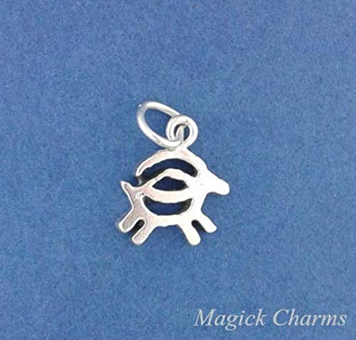 - Goat Rock Carving Petroglyph - .925 Sterling Silver Charm Jewelry Making for Bracelet Pendant