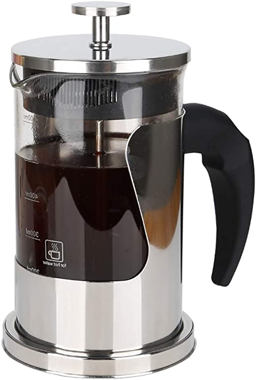 Ejoyous 20 OZ Coffee Tea Espresso Press with 304 Grade Stainless Steel Great for Home Office Restaurant Cafe French Press Coffee Maker for 2 to 3 Cups Heat Resistant Borosilicate Glass