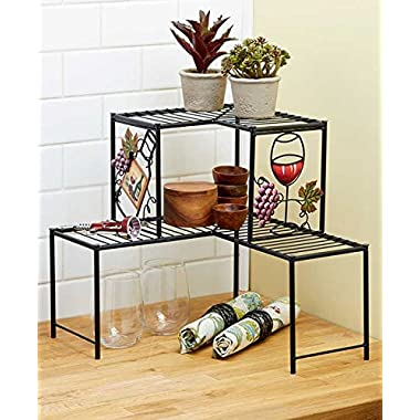 Wine-Themed Kitchen Corner Shelf