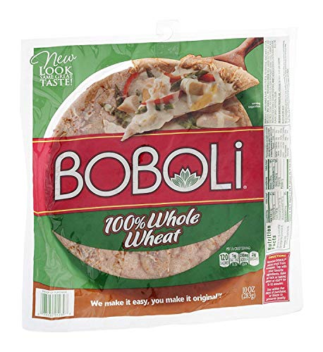 Boboli, 100% Whole Wheat Thin Pizza Crust, 10oz Package (Pack of 3)