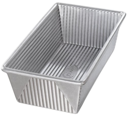 USA Pan 1145LF Bakeware Aluminized Steel 1 1/4 Pound Loaf Pan, Medium, Silver (1 Pan Pound Loaf Commercial)