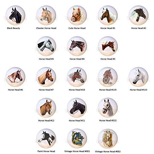 Horse Heads Equine Equestrian DECORATIVE Drawer Pulls Dresser -