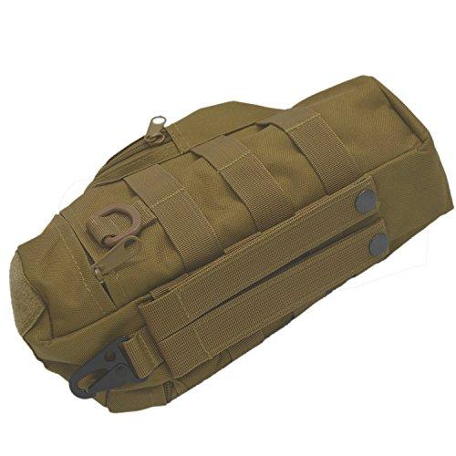 Im Freien Sport Tactical Gear Nylon Molle Zipper Camo große Flasche Wasser Tasche Wasserkocher Pack w / Dienstprogramm Medic kleine Durcheinander Pouch Khaki ehzate