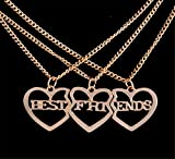 Best Fusicase Friend Pendant Necklaces - Fusicase Three Pieces Best Friends Forever BFF Silver Review