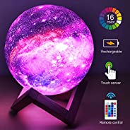 HYODREAM 3D Printing Moon Lamp Moon Light Kids Night Light 16 Color Change Touch and Remote Control Galaxy Lig