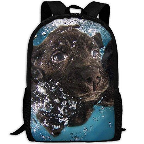 Backpack Black Labrador Retriever Cute Puppies Womens Laptop Backpacks School Bag Travel Daypack
