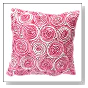 Two Tone 3d Bouquet of Pink Roses Throw Cushion Cover pillow Sham