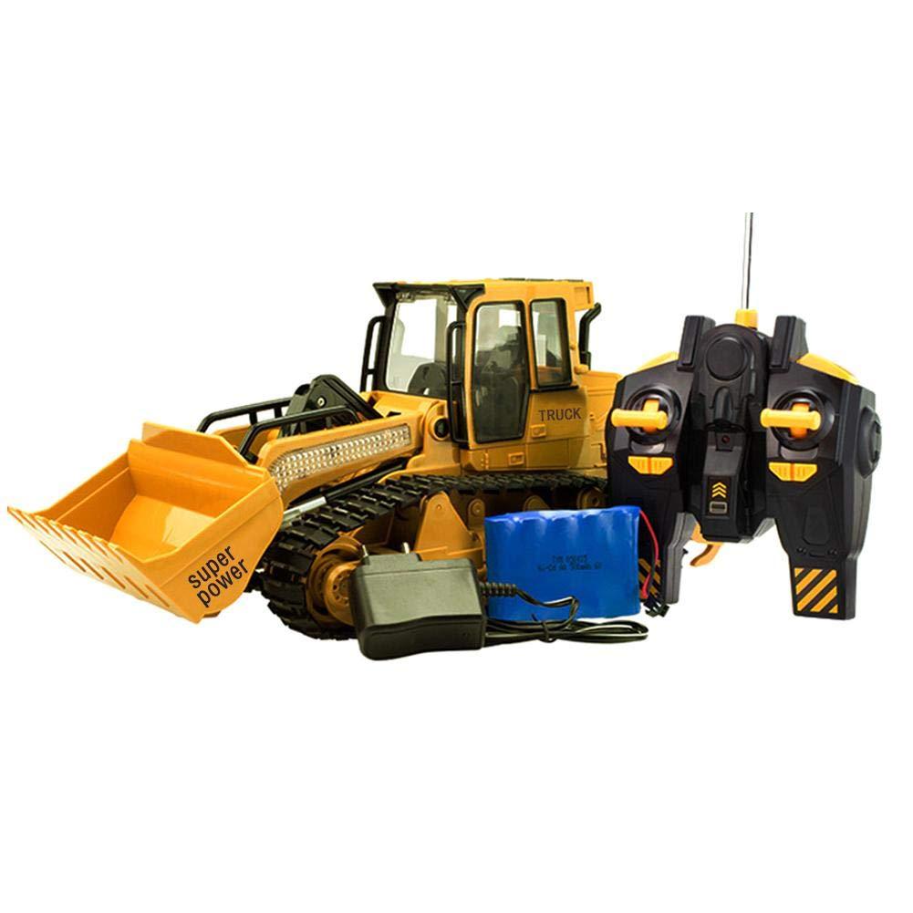 Ferngesteuerter Radlader Spielzeug Nachgemachter Großer Bulldozer mit Sound und Licht für Kinder XM-6822L haodene