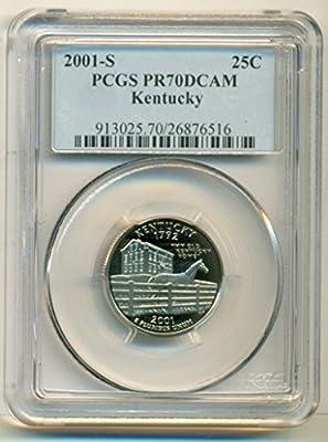 2001 S Kentucky State Clad Proof Quarter PR70 DCAM PCGS